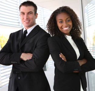 A man and a woman consultants